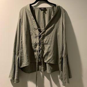 LuLus tie up blouse
